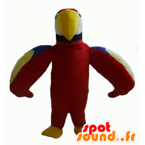 Mascot parrot pretty red, green, blue and yellow - MASFR22699 - Mascots of parrots