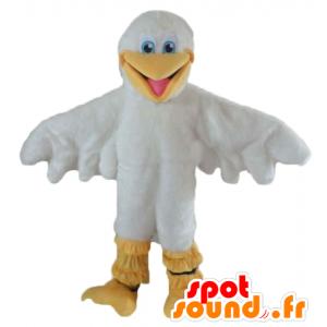 Mascot Möwe, Weiß und Gelb Ente - MASFR22723 - Enten-Maskottchen