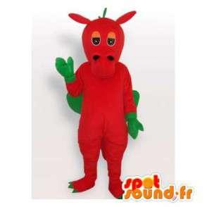 Mascot dragon red and green. Dragon costume - MASFR006520 - Dragon mascot