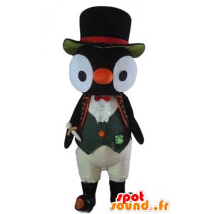Sowa maskotka, czarno-biały kostium sowa - MASFR22732 - ptaki Mascot