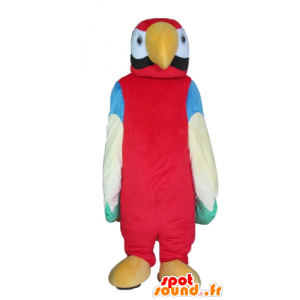 Mascot obří vícebarevný papouška