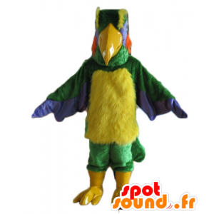 Mascotte d'oiseau multicolore géant et poilu - MASFR22740 - Mascotte d'oiseaux