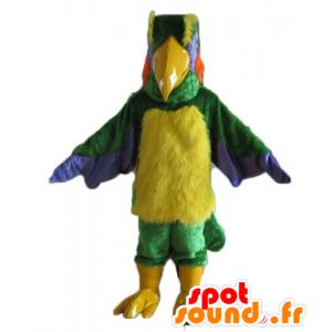 Maskotka wielobarwny gigantycznego ptaka i owłosione - MASFR22740 - ptaki Mascot