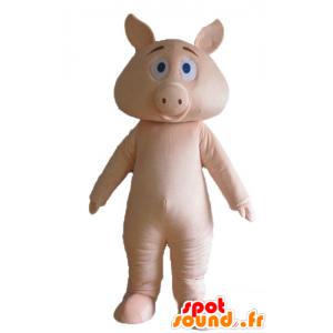 Rosa Schwein-Maskottchen,...