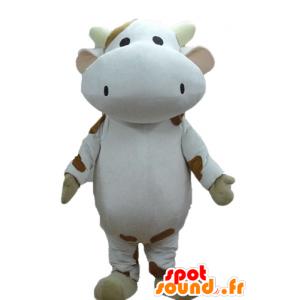 Valkoinen lehmä maskotti ja...