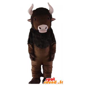 Ruskea buffalo maskotti...