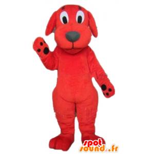 Clifford maskot, rød og sort hund, kæmpe - Spotsound maskot