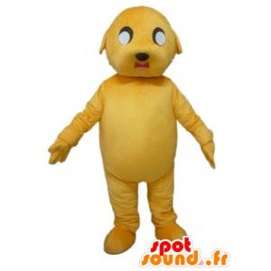 Yellow Dog Mascot, jättiläinen ja vaikuttava - MASFR22809 - koira Maskotteja