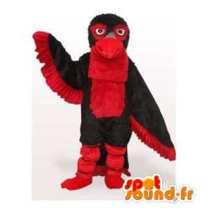 Maskotti punainen ja musta lintu. Eagle Costume - MASFR006528 - maskotti lintuja