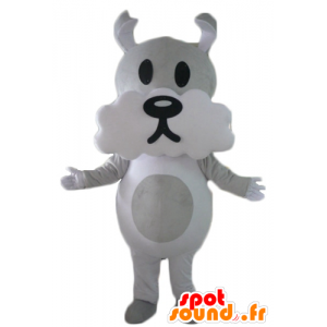 Gray and white dog mascot, cute and funny - MASFR22817 - Dog mascots