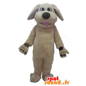 Maskotti iso ruskea koira, täysin muokattavissa - MASFR22819 - koira Maskotteja
