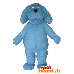 Blue Dog Mascot, alle hårete, imponerende - MASFR22820 - Dog Maskoter