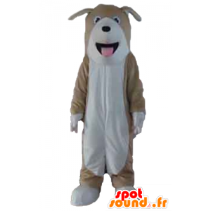 Maskotti tricolour uros, ruskea, valkoinen ja musta - MASFR22824 - koira Maskotteja