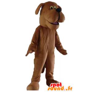 Ruskea koira maskotti hyvältä - MASFR22826 - koira Maskotteja