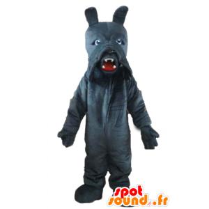 Mascot dog, basset hound gray, very realistic - MASFR22827 - Dog mascots