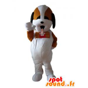 St. Bernard mascot, dog rescuer tricolor - MASFR22839 - Dog mascots