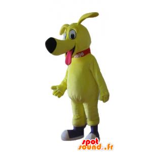 Maskottchen großen gelben Hund, sehr niedlich und liebenswert - MASFR22840 - Hund-Maskottchen