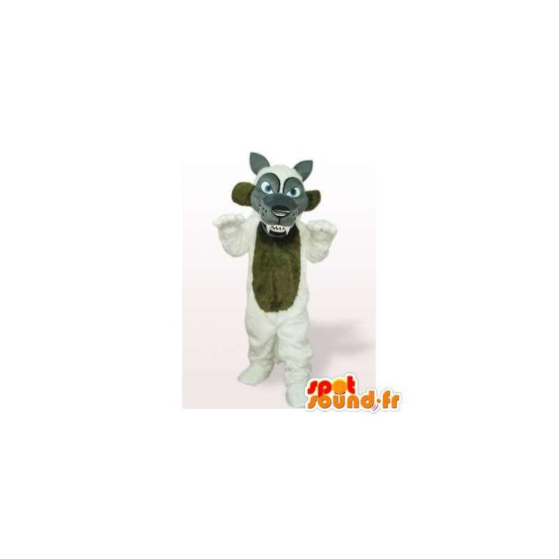 Mascot wolf gray, brown and white - MASFR006532 - Mascots Wolf