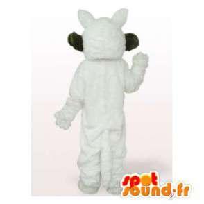 Mascot grauen Wolf braun und weiß - MASFR006532 - Maskottchen-Wolf