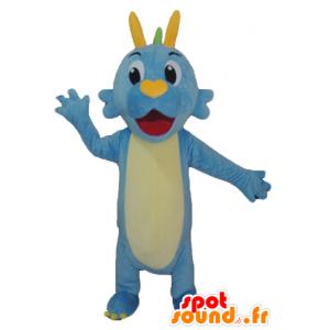 Dinosaurus Mascot, Blue Dragon, vihreä ja keltainen - MASFR22858 - Dinosaur Mascot
