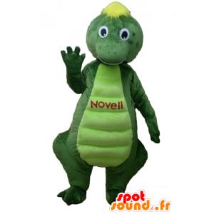 Coccodrillo mascotte, verde e gialla dinosauro - MASFR22876 - Mascotte di coccodrilli