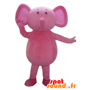 Mascot Pink Elephant, fully customizable