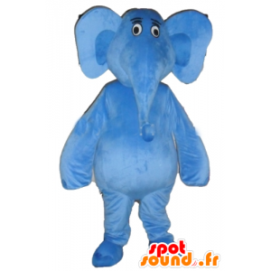 Mascot blue elephant, giant and fully customizable