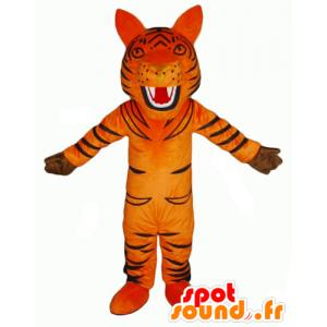 Maskottchen-orange und schwarz tiger, brüllen - MASFR22934 - Tiger Maskottchen