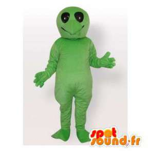 Mascot green turtle without its shell. Reptile suit - MASFR006540 - Mascots turtle