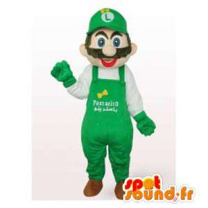 Mascot Luigi, een vriend van Mario, de beroemde video game personage - MASFR006541 - Mario Mascottes