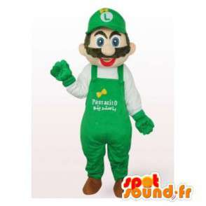 Mascotte de Luigi, ami de Mario, célèbre personnage de jeu vidéo - MASFR006541 - Mascottes Mario