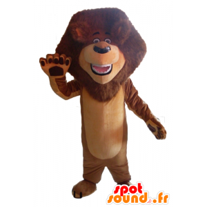 Brown lion mascot with a beautiful mane - MASFR22957 - Lion mascots