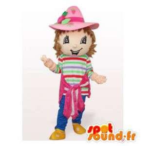 Mascot Emily Erdbeer.Emily Erdbeer-Kostüm