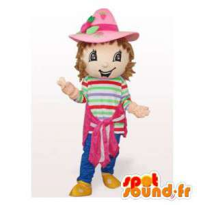 Strawberry mascot. Strawberry Shortcake Costume