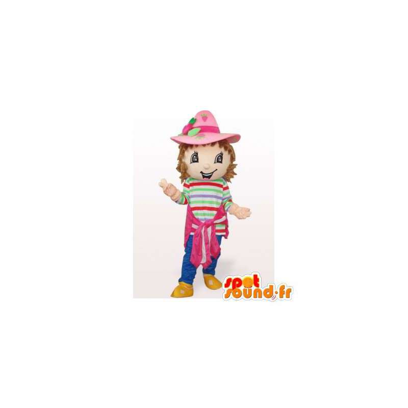 Strawberry mascot. Strawberry Shortcake Costume - MASFR006544 - Fruit mascot