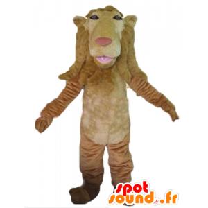 Mascotte de lion marron, géant et original - MASFR22981 - Mascottes Lion