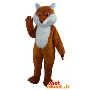 Mascot orange and white fox, cute and hairy - MASFR22993 - Mascots Fox
