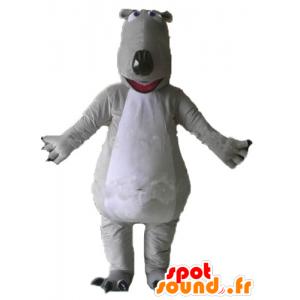 Mascot grå og hvit bjørn, gigantiske og imponerende - MASFR23007 - bjørn Mascot