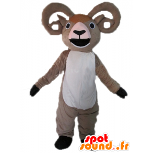 Goat mascot, gray and white ram giant - MASFR23019 - Goats and goat mascots