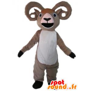 Mascota de cabra, gris y blanco gigante ram