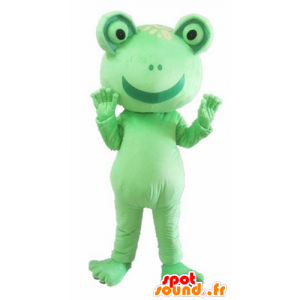 Mascot groene kikker, reus, grappig