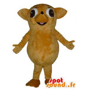 Beige mascotte e gigante riccio marrone e divertimento - MASFR23024 - Mascotte Hedgehog