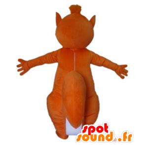 Wholesale mascot orange and white squirrel - MASFR23028 - Mascots squirrel