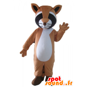 Mascot tricolor raccoon, brown, black and white - MASFR23038 - Mascots of pups
