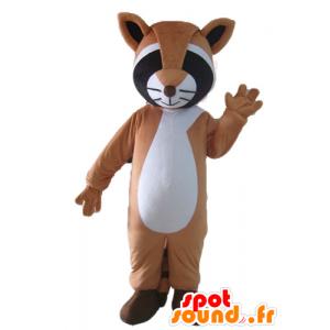 Mascot tricolor Waschbären, braun, schwarz und weiß - MASFR23038 - Maskottchen von pups