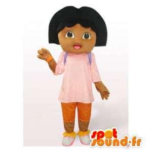Mascotte de Dora l'exploratrice. Costume de Dora l'exploratrice - MASFR006550 - Mascottes Dora et Diego