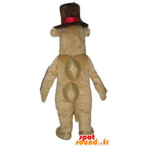 Virtahepo maskotti, ruskea kamelin isolla hattu - MASFR23048 - Hippo Maskotteja