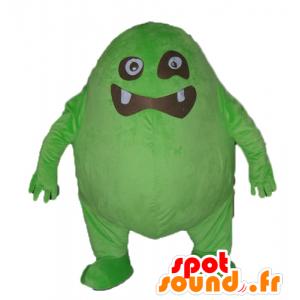 Suuri vihreä ja musta hirviö, hauska ja omaperäinen maskotti - MASFR23049 - Mascottes de monstres