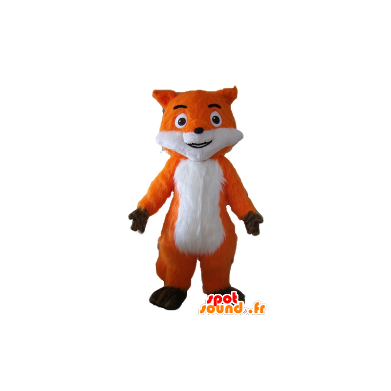 Beautiful mascot orange fox, white and brown, very realistic - MASFR23054 - Mascots Fox