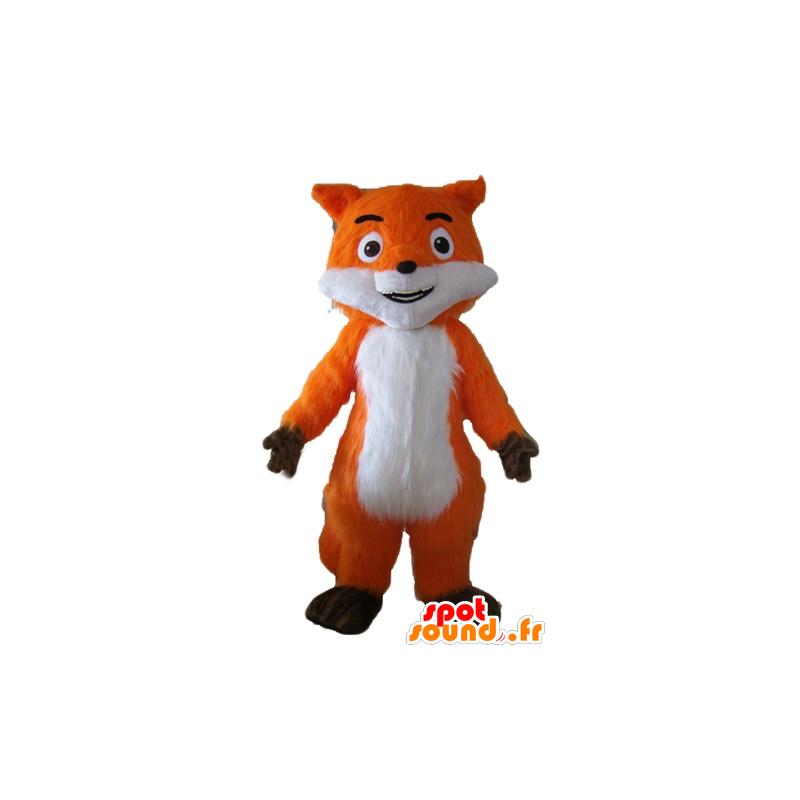Belle mascotte de renard orange, blanc et marron, très réaliste - MASFR23054 - Mascottes Renard